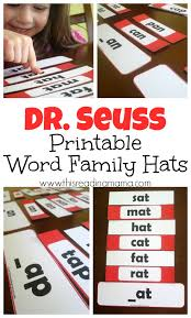 dr seuss word family hats