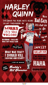 quoting the very vexing harley quinn infographic harley quinn