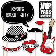 photo booth party props party like a rockstar 20 rock party photo booth props