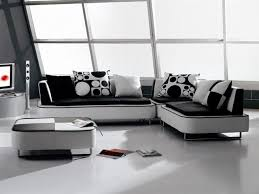 modern black and white leather sectional sofa black white sofa and