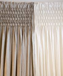 Smocked Burlap Curtains Catchy Smocked Burlap Curtains And Smocked Burlap Curtain Panel