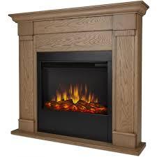 real flame lowry 46 inch slimline electric fireplace blonde oak