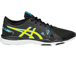 black friday asics shoes gel fit nova 2 women black flash yellow scuba blue asics us