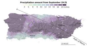 Where Is Puerto Rico On The Map How Much Rain Maria Dropped On Puerto Rico Washington Post