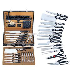 german 24pcs stainelss steel kitchen knives set with cheese knife