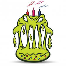 scary monster cake design vector premium download