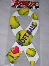softball ribbon i softball ribbon magnet from 1 50