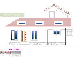 3d layout of 1000 sq ft house with single floor plan kerala