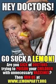 Anti Vaccine Meme - lemon party strikes again anti vaccination movement know your meme