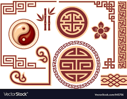 oriental design set of chinese oriental design elements royalty free vector