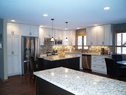 white kitchen wall color glass in cabinet doors long narrow l