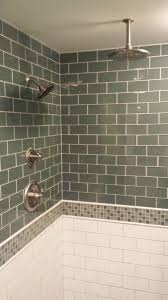 ann arbor glass subway tile basement bath exemplar carpentry