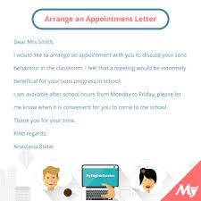 appointment letter manager what should i write to arrange an appointment with someone
