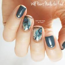 will paint nails for food peacock nail art using the dior vernis