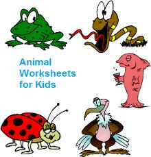 printable animal worksheets for kids to learn animal