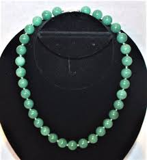 beaded jade necklace images Wow super heavy vintage 14k gold clasp genuine green jade large jpg