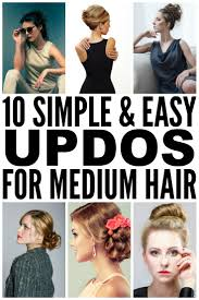 10 easy u0026 glamorous updos for medium length hair