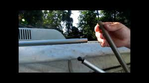 Jayco Awning Replacement How To Repair A Pop Up Trailer Canopy Pole Youtube