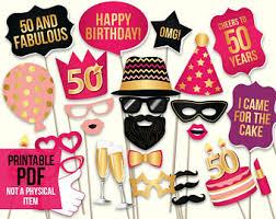 50th birthday party ideas 50th birthday etsy