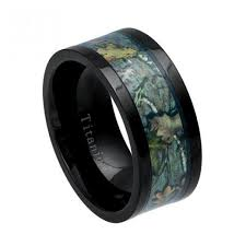 camo mens wedding bands cool mens gift titanium ring mens wedding ring camo inlay ring
