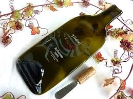 wine bottle cheese plate slumped wine bottle cheese plate from tildio winery bottle