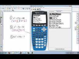 calculator college algebra factoring using the ti 84 youtube