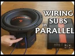 how to wire dvc subwoofers in parallel dual with loop