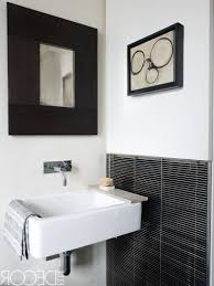 black and white tile bathroom floor white black high glossy