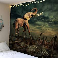elephant forest home decor wall tapestry colorful w inch l inch elephant forest home decor wall tapestry colorful w51 inch l59 inch
