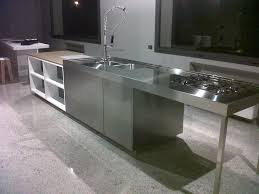 kitchen simple stainless steel island made out of durable