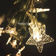 24 led flashing porch light five ponited star string fairy lights
