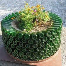 Decoration Ideas For Garden 19 Sustainable Diy Wine Bottle Outdoor Decorating Ideas
