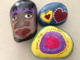 Painted Rocks For Garden by Create And Hide Painted Rocks With Grandchildren