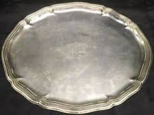 monogrammed platters and trays antique german silver platters ebay