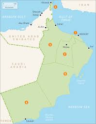 Regions Of South America Map by Map Of Oman Oman Regions Rough Guides