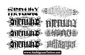 ambigram tattoos and designs page 372