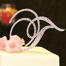 pearl monogram cake topper monogram cake toppers