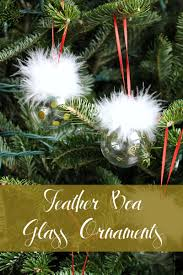monthly diy challenge feather boa clear glass ornaments the