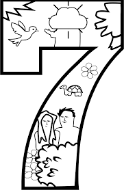 clipart creation day 7 coloring page