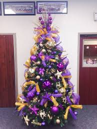 stepped up my decorating skills this year purple and gold