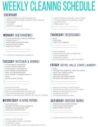 printable evening schedule 7 of the best free printable cleaning schedules cleaning schedules