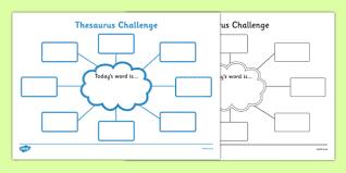 thesaurus challenge worksheets thesaurus challenge thesaurus