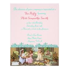 afternoon tea birthday party invitations u0026 announcements zazzle