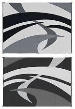 Awning Mats Reversible Mats 159121 Blackwhite 9x12 Swirl Pattern Mat Ebay