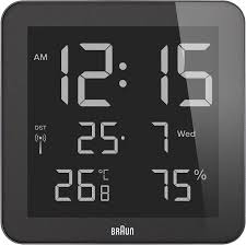 amazon com braun digital global radio controlled wall desk clock