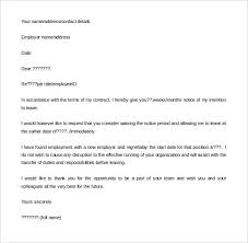 18 notice period letter templates free sample example format