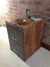 Rustic File Cabinet Vintage Industrial Chic Metal Filing Cabinet Encased In Reclaimed
