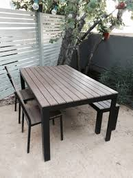 Outdoor Dining Bench Ikea Falster Table 2 Chairs Bench Outdoor Dining Set For Sale