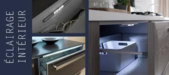 eclairage tiroir cuisine automatique meuble