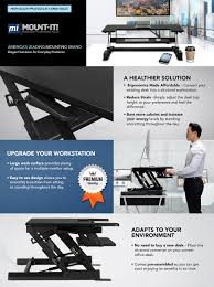 amazon com mount it standing desk height adjustable standing